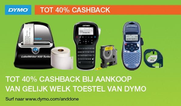 Dymo cashback op machines en supplies